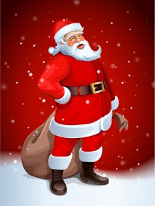 Santa Claus: Well, he is red Hugh!