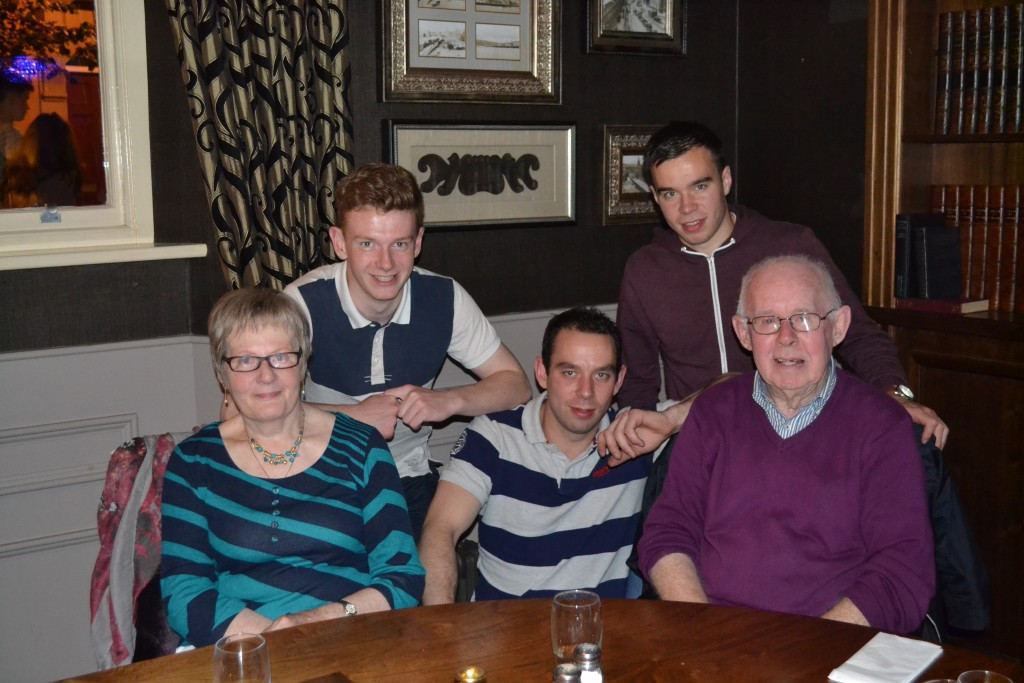 Grainne's family, including her 18-year-old son, Ultan (back left)