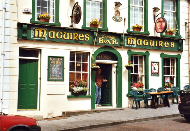 A traditional Irish pub: Maguires in Moville, Inishowen, Co Donegal.
