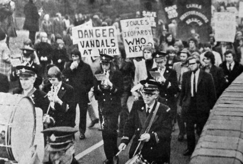 A Campaign For Real Ale march in the UK in 1973.