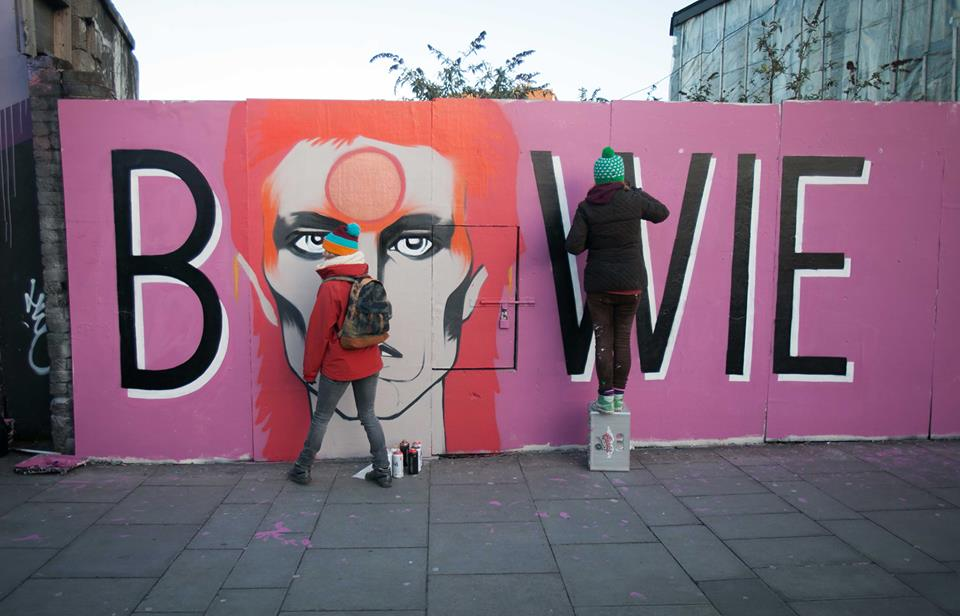 Dublin remembers Bowie with street art