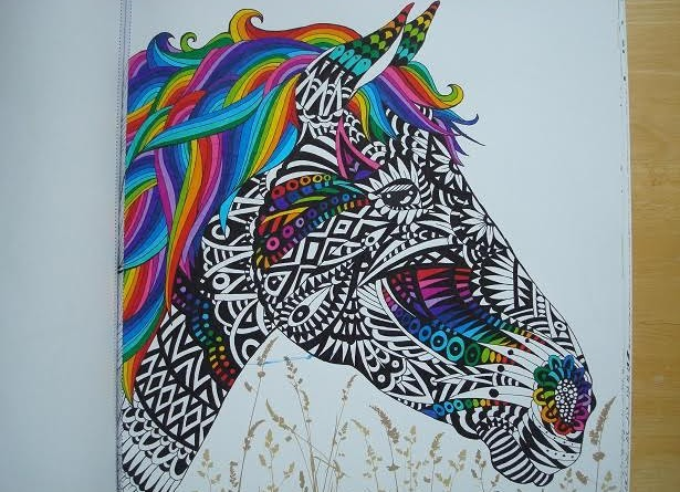 Colouring by adult colourer Lucy Fyles