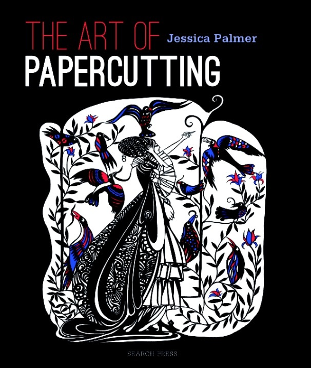 Papercutting, an adult colouring book illustrated by Jessica Palmer