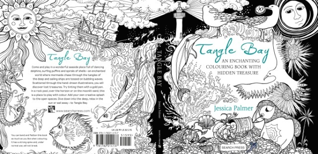 Tangle Bay, the next illustrated adult colouring book by Jessica Palmer