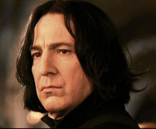Alan Rickman as Professor Snape in Harry Potter