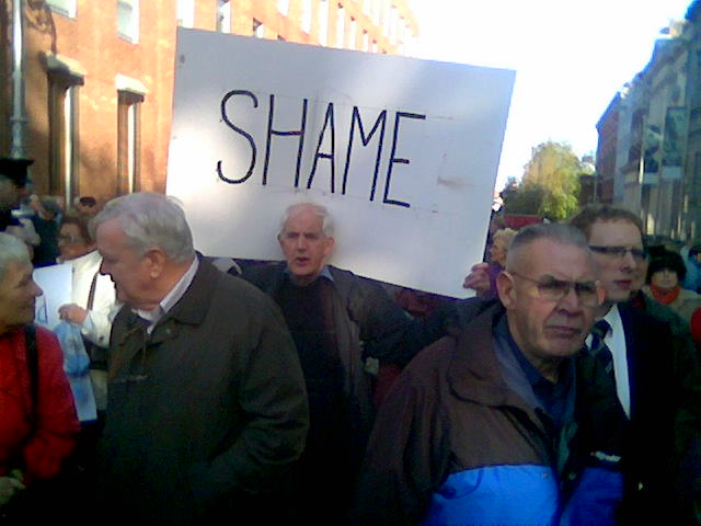 A medical card protest. Has this government a lot to hang its head in shame about?