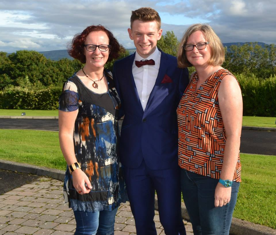 Ultan with mother Grainne McCool and aunt Louise McCauley