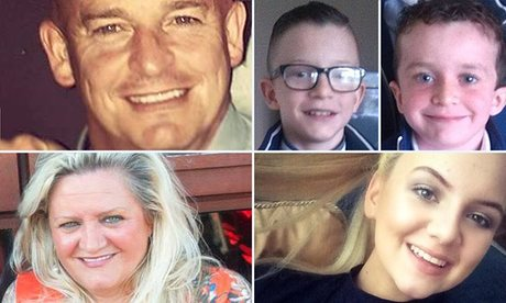 Tragedy:  The family of five who died in Buncrana on Sunday