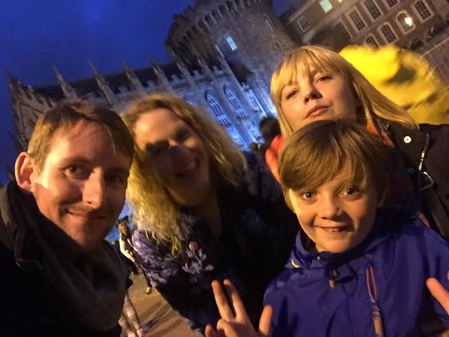Jude and his family, out enjoying Dublin nightlife