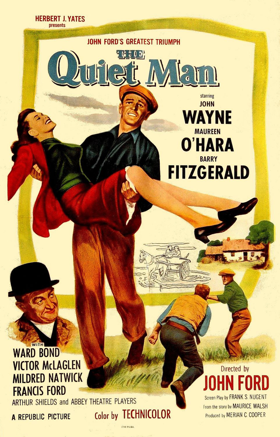 By May incorporate artwork by Clement Hurel - see Nollen, Scott Allen (2013) Three Bad Men: John Ford, John Wayne, Ward Bond, McFarland, p.352 ISBN: 9780786458547. - http://www.doctormacro.com/Movie%20Summaries/Q/Quiet%20Man,%20The.htm, Public Domain, https://commons.wikimedia.org/w/index.php?curid=18565484