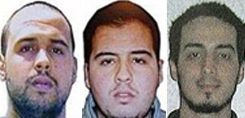 Khalid El Bakraoui (left) set off his suicide vest on a Brussels Metro train at Maelbeek station 79 minutes after brother Ibrahim El Bakraoui (centre) blew himself up with a bomb in a suitcase at Brussels airport. Ibrahim was with another suicide bomber, identified last night as explosives expert and bombmaker Najim Laachraou (right) Read more: http://www.dailymail.co.uk/news/article-3505610/Brussels-airport-suicide-bombers-Belgian-brothers-accomplice-white-remains-run.