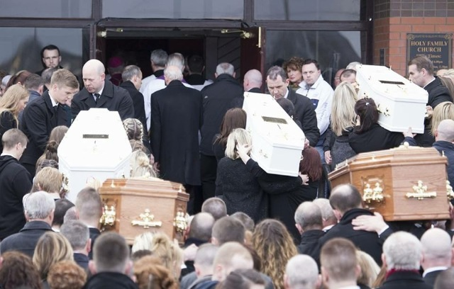 The family funeral in Derry today. North West News Pix (Joe Boland)