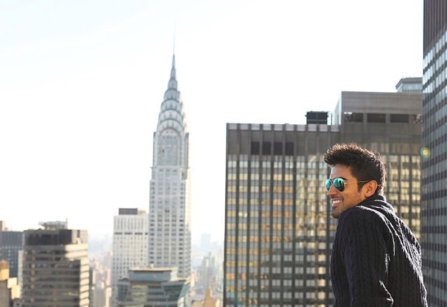 Jeremy chilling out in New York - sure why not!