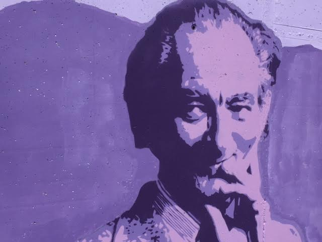 Brian Friel, featured on the mural