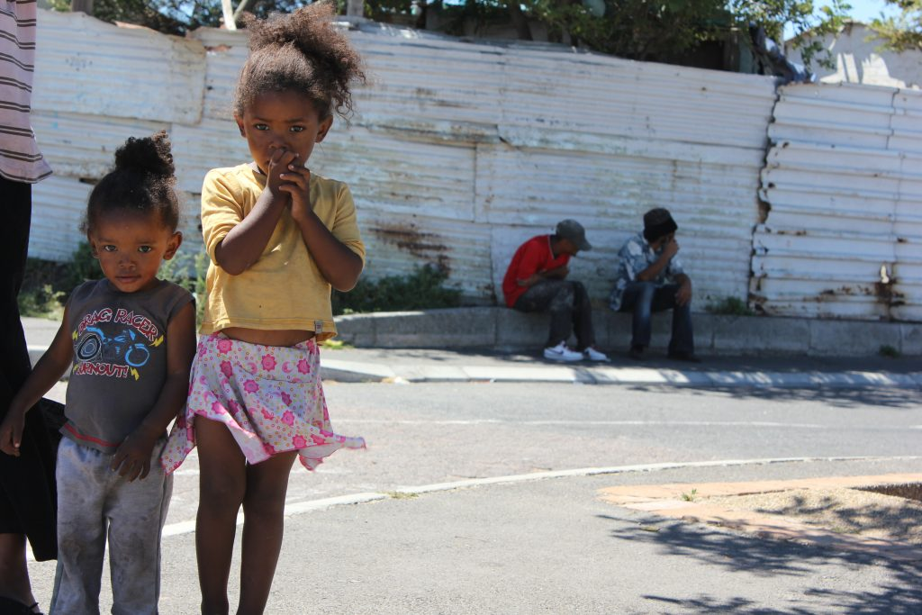 Homeless children in Cape Town