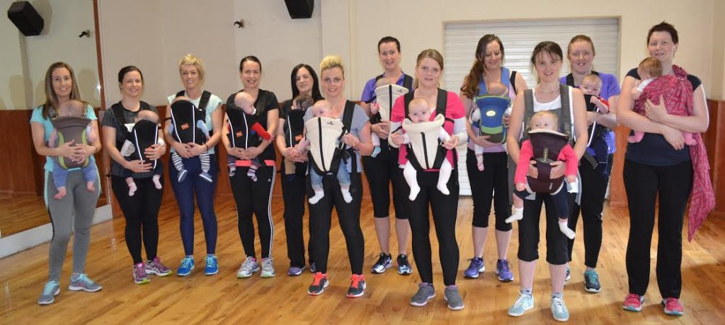 The ladies and babies who dance together from Buncrana, Co Donegal at Dance With Me Baby classes.