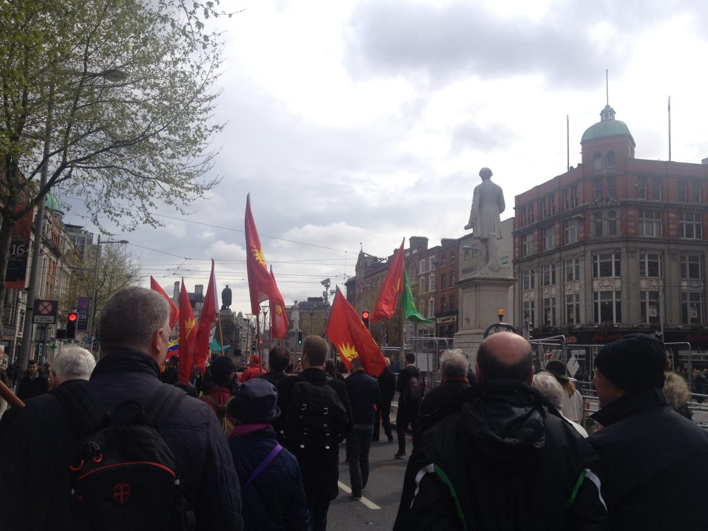 Dublin May Day workers' rights protest