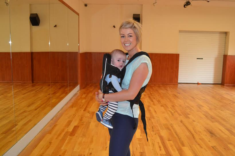 Mum Joanne and baby Noah Gallinagh at Dance WIth Me Baby