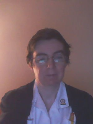 A photo of Kate in 2009 as a nurse