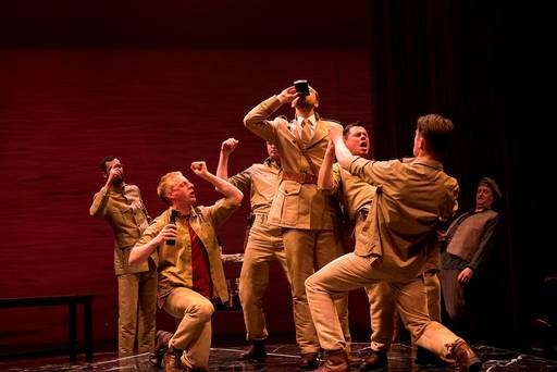 Othello's soldiers celebrate after victory