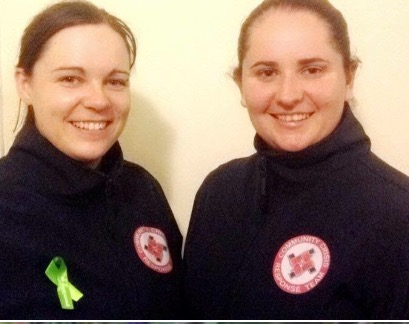 Caitriona, left and Kayla, right, in their team uniforms.