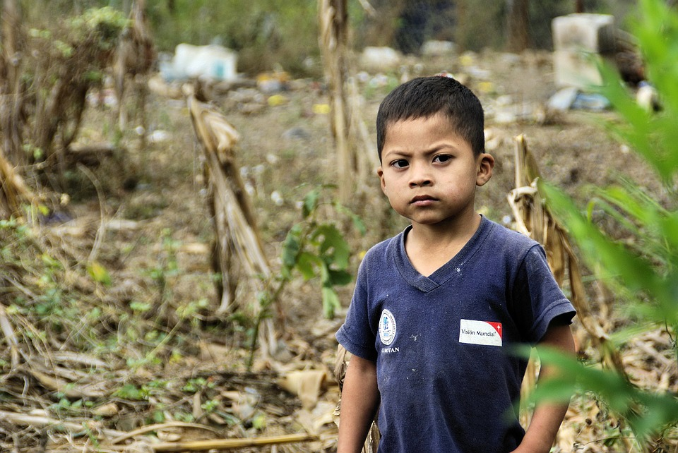 A child in Guatemala, where some of the worst gang violence in the world is unfolding