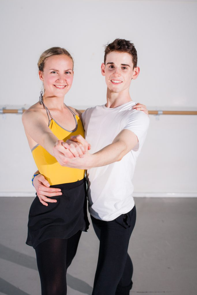 Gearóid Solan, 16, with Lauren Spiers, 26, rehearsing for the Edinburgh Fringe Festival.