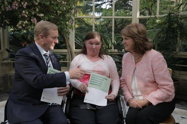 With Enda Kenny and Joan Burton