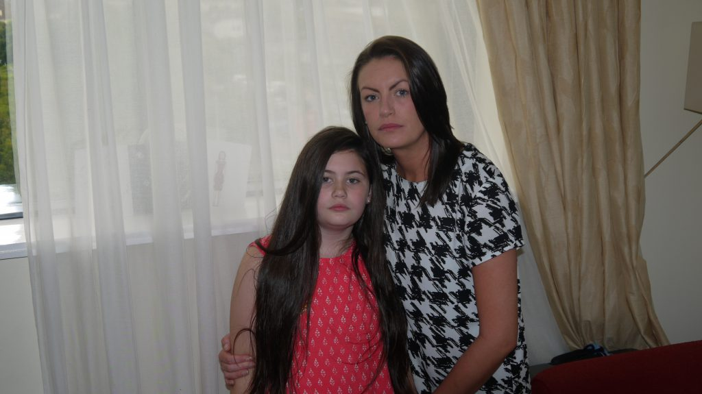 Erica Fleming and daughter, Emily, 9.