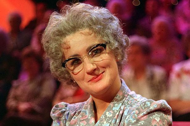 Caroline Aherne as the sharp tongued pensioner Mrs Merton