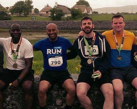 Last year's fun: Pictured friends and competitors Sammy, Neway, John Joe and Paddy.