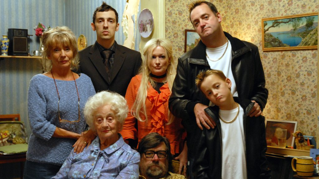 Caroline Aherne with her Royle Family