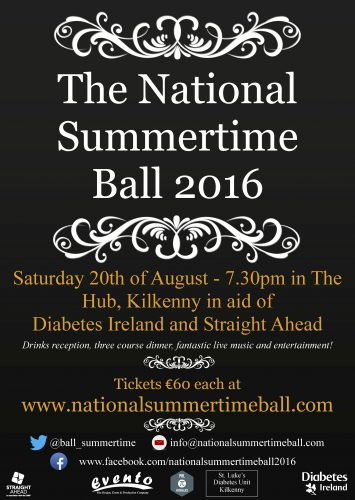 National Summertime Ball in aid of Diabetes Ireland and Straight Ahead