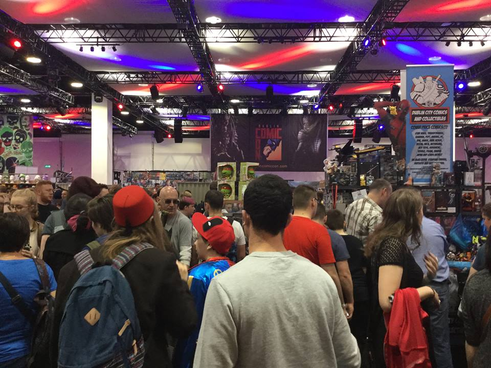 The Dublin Comic Con was mobbed with comic book and film fans