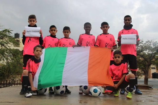 The kids from the Al Helal Football Club back in Gaza