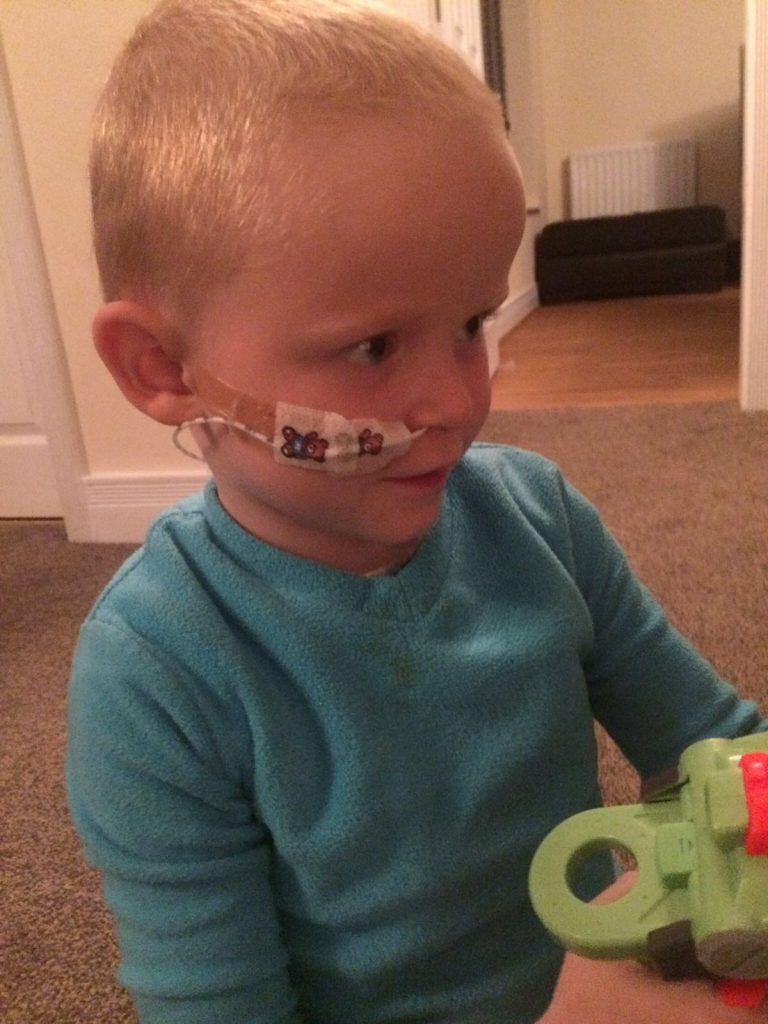 Little Liam is a fighter, who smiles though tough times.
