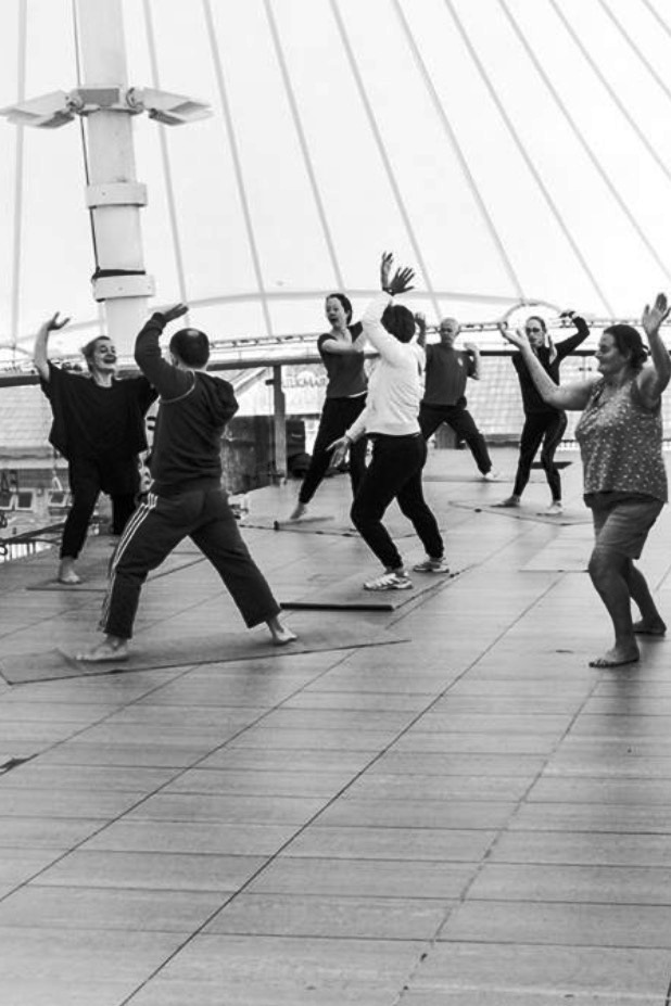 Tai chi on a Limerick rooftop