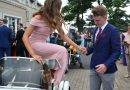 Motorcyle sidecar romance for the Donegal debs