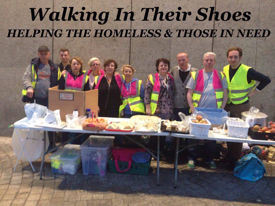 Some of the Walking in THEIR shoes volunteers