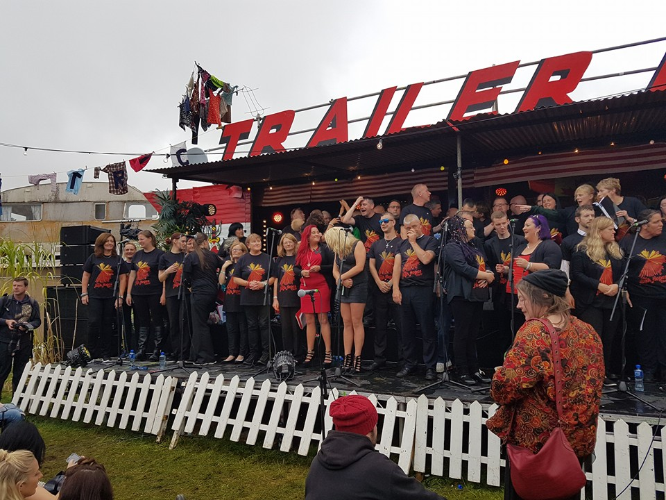 The High Hopes Choir performing at Electric Picnic