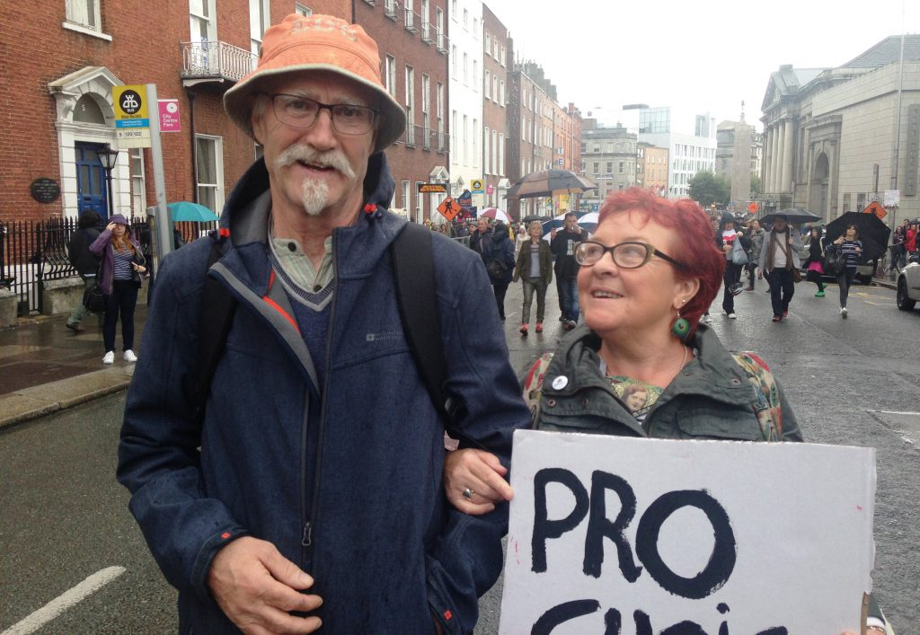 Maria and Anthony represented the older generation at the march