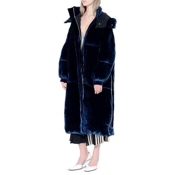 Stella McCartney velvet coat. Officially the Heavyweight Champion of the season! Winning!
