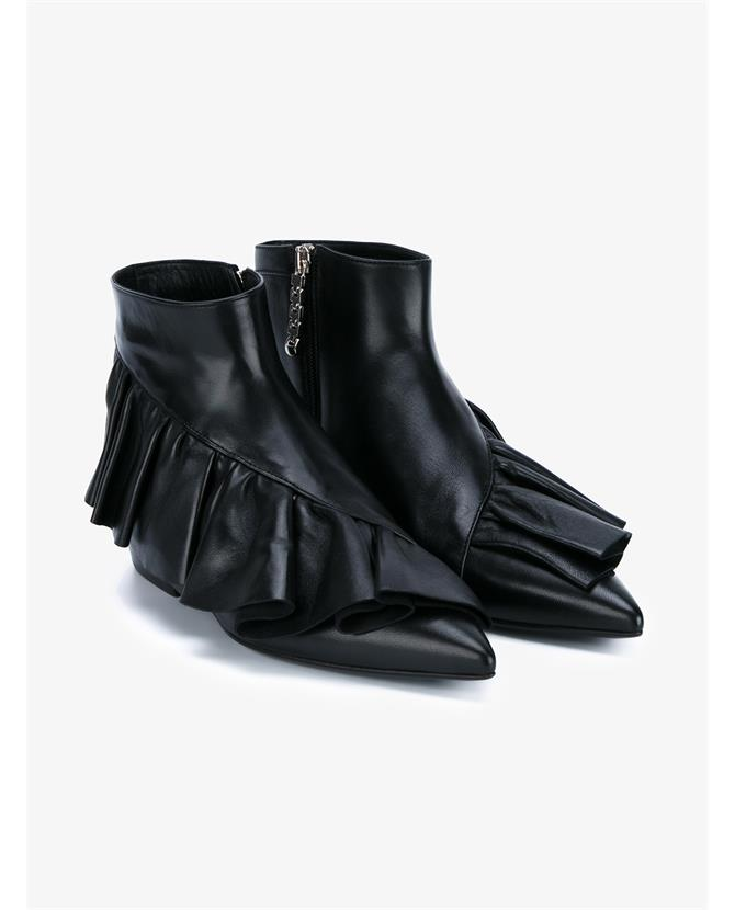 J.W Anderson; Ruffle Leather Ankle Boots €650; Browns Fashion http://www.brownsfashion.com/product/LSJ152870002/027/ruffle-leather-ankle-boots