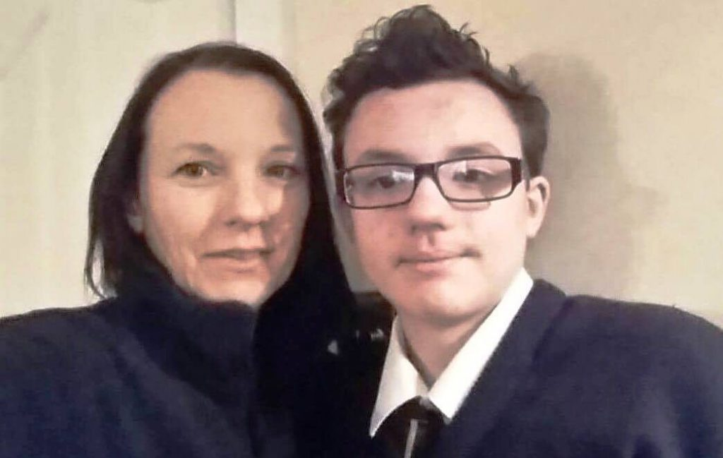 Louise and her son, Colm