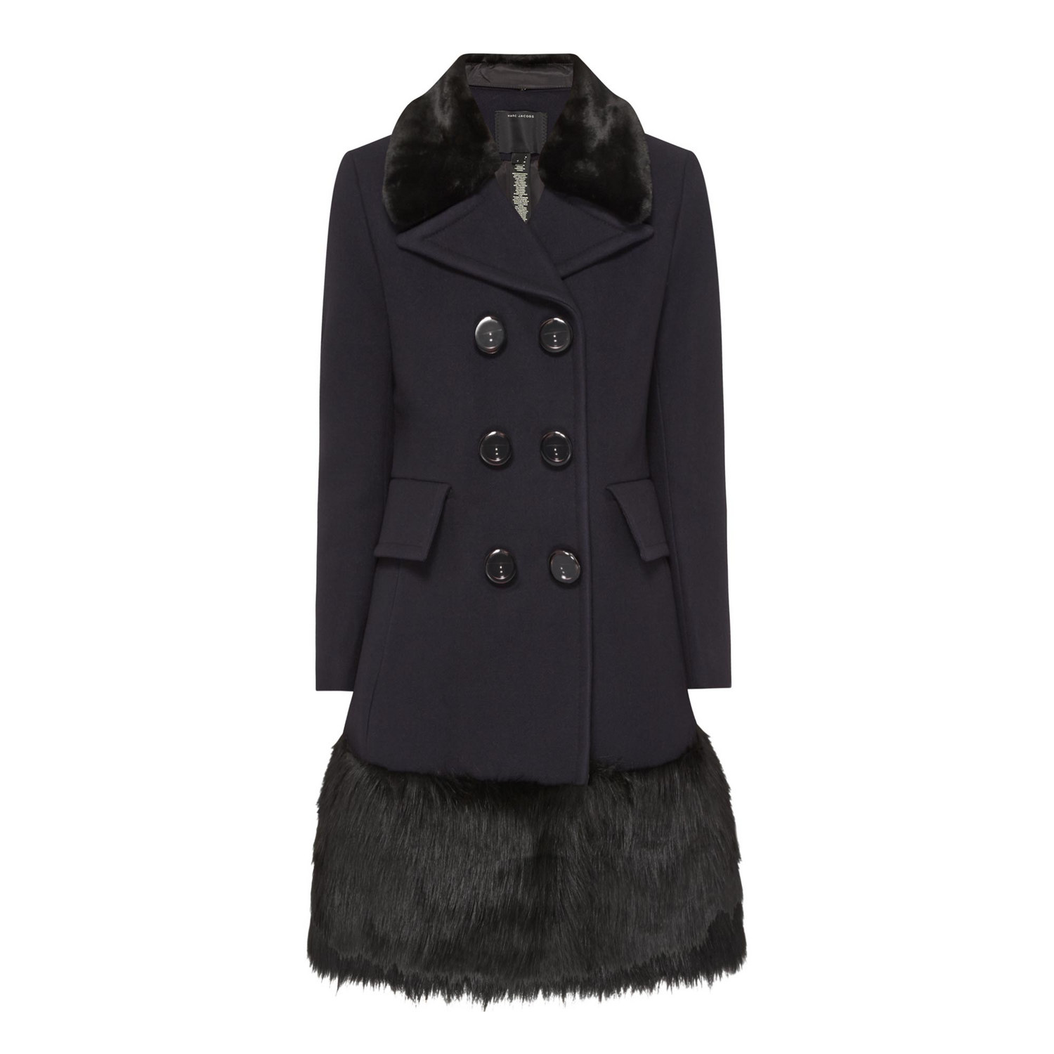 Faux Fur Trim Coat, Marc Jacobs; €1510 Brown Thomas https://goo.gl/JI40RP