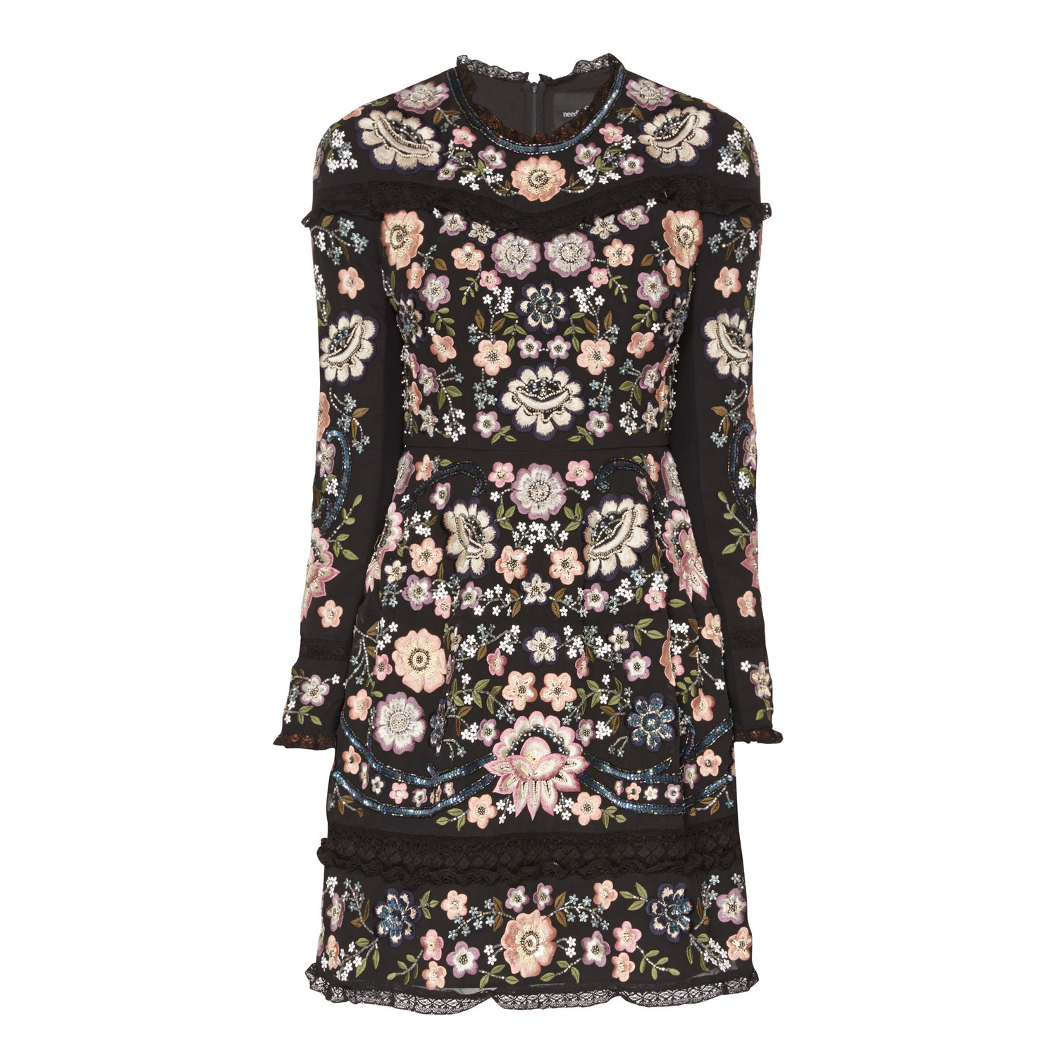 Embroidered Crew Neck Dress; Needle and Thread €415. Brown Thomas http://www.brownthomas.com/brown-thomas-navigation-catalog/embroidered-crew-neck-dress/