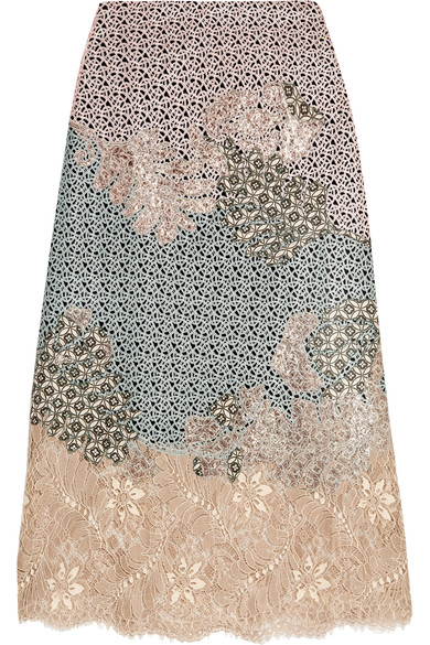 Nemesis Appliqued Lace Midi Skirt; Biyan €1403. Net a Porter https://www.net-a-porter.com/ie/en/product/736699/Biyan/nemesis-appliqued-lace-midi-skirt