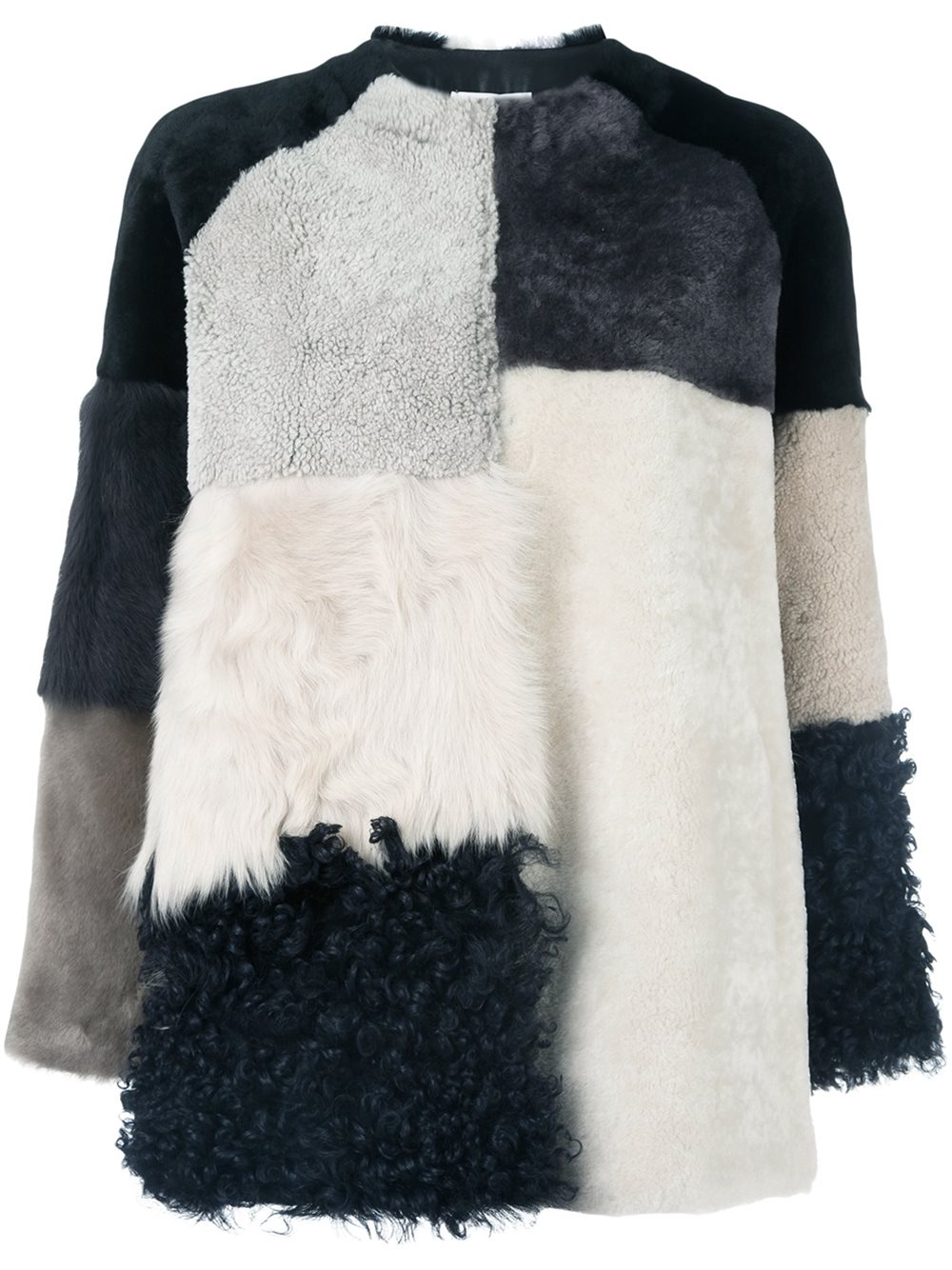 Colour Block Fur Jacket, P.A.R.O.S.H; €1597 Farfetch https://goo.gl/k7l0fZ