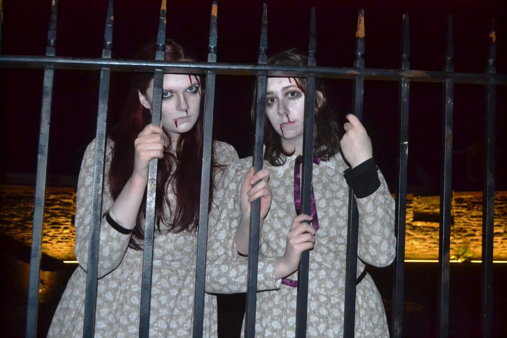 Feeling a bit peaky girls? Two of the zombies at the Awakening of the Walls, Derry