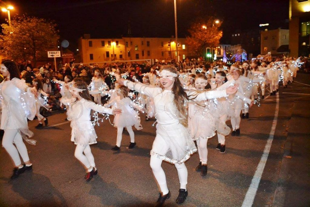 Making Halloween all white - the children of the Derry Halloween parade